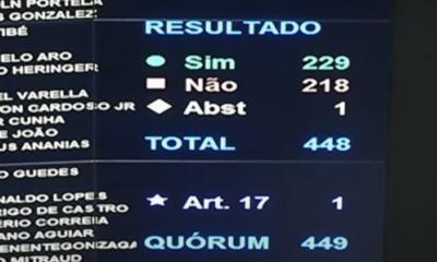 A votação desta terça-feira é a terceira derrota do voto impresso na Câmara, já que o tema foi rejeitado em duas votações na comissão